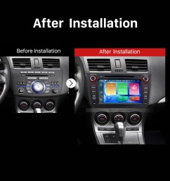 2009 2010 2011 2012 mazda 3 car stereo after installation [ 1500 x 1500 Pixel ]