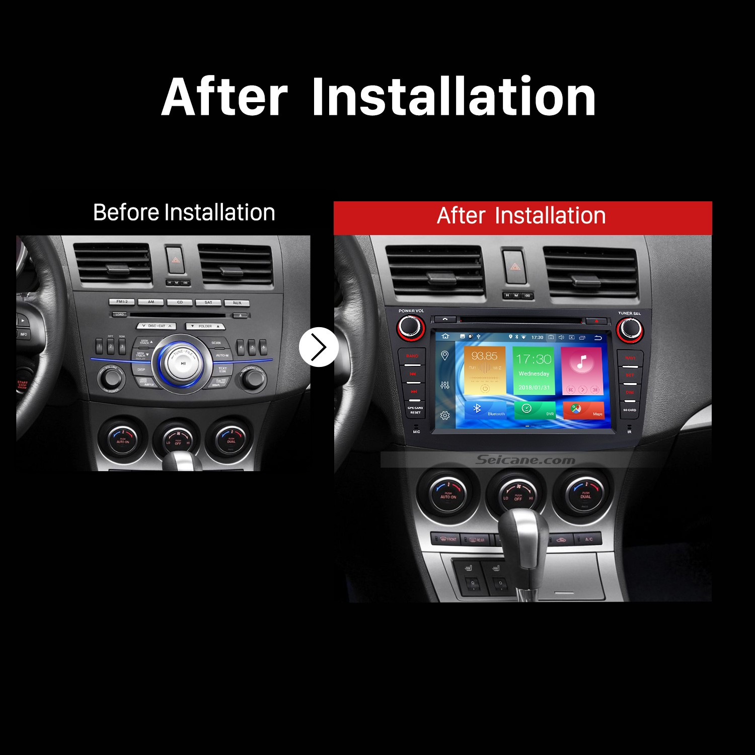 hight resolution of 2009 2010 2011 2012 mazda 3 car stereo after installation