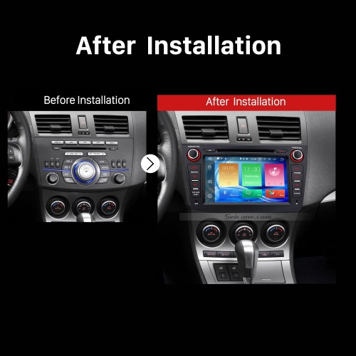 small resolution of 2009 2010 2011 2012 mazda 3 car stereo after installation
