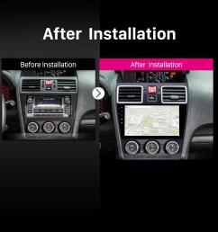 2014 2015 2016 subaru forester car radio after installation [ 1500 x 1500 Pixel ]
