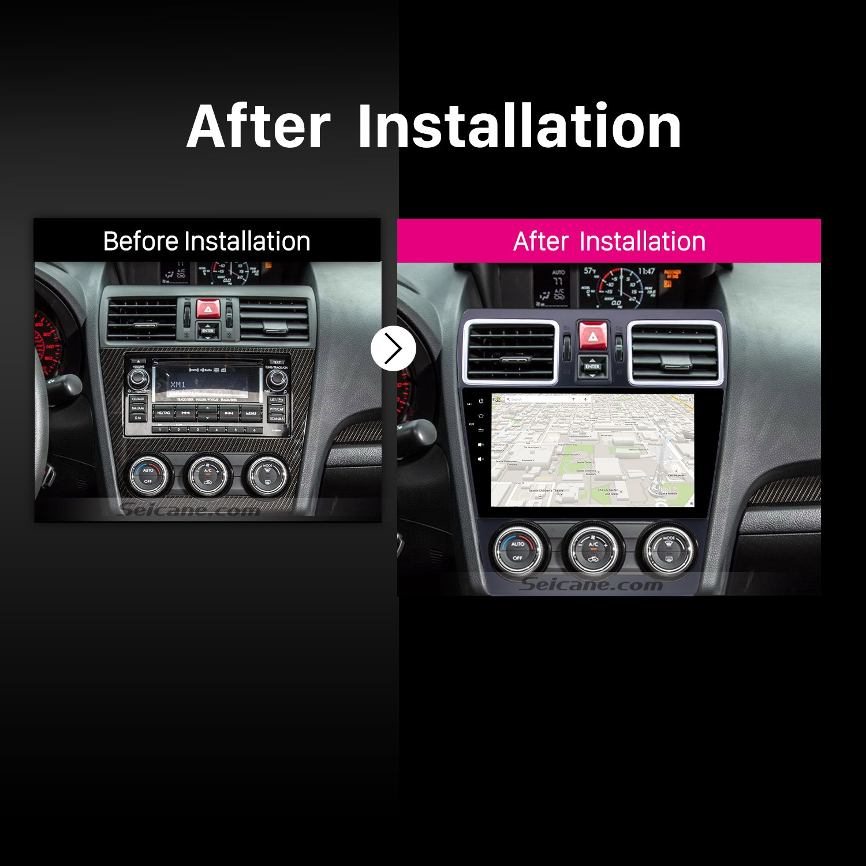 hight resolution of 2014 2015 2016 subaru forester car radio after installation