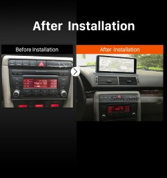 2004 2005 2006 2007 2008 audi a4 car radio after installation [ 1500 x 1500 Pixel ]