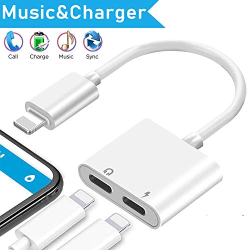 Lighting to 3.5 mm Headphone Adapter Earbuds Headset Aux Cable 2 Pack. Compatible with iPhone X/XS Max/XR 7/8 Plus iOS 10/11/12 Play and Plug ...