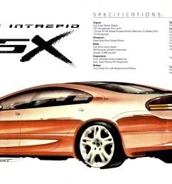 dodge intrepid esx 1996 brochure [ 1662 x 964 Pixel ]