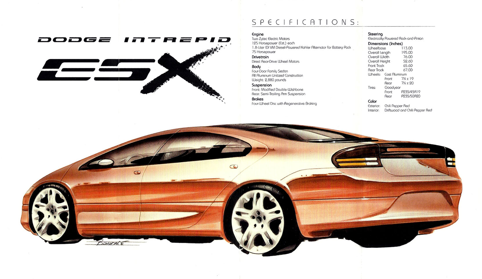 hight resolution of dodge intrepid esx 1996 brochure
