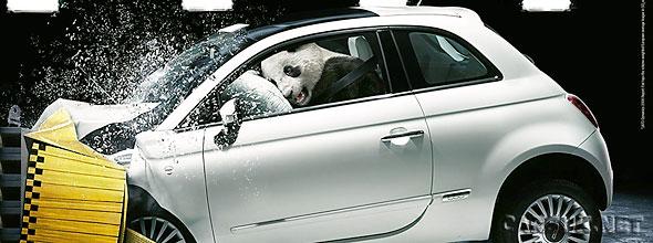 Not just a Fiat 500 crash - a Fiat Panda crash too!