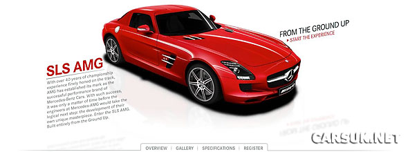 Mercedes has launched a website to promote the SLS AMG Gullwing