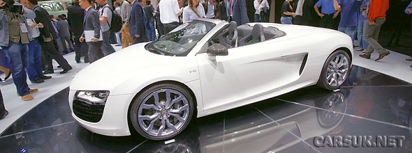 The unveiling of the Audi R8 Spyder 5.2 FSI quattro at Frankfurt