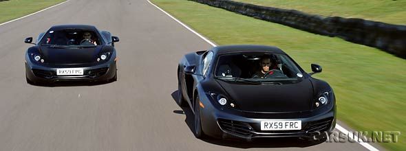 TheMcLaren MP4-12C with Button and Hamilton