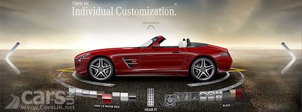 The Mercedes SLS AMG Roadster Configurator goes live