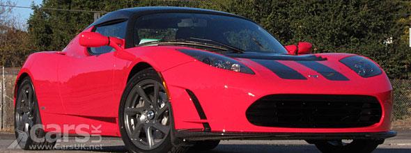 Red Tesla Roadster
