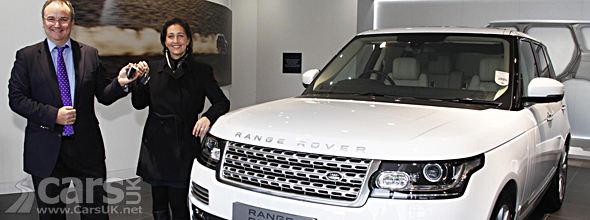 Fir=st new Range Rover customer collects car photo