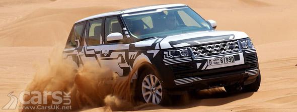 New Range Rover testing on sand dunes in Dubai