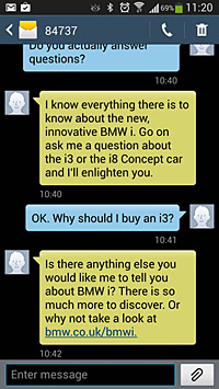 Photo BMW i Genius answers questions