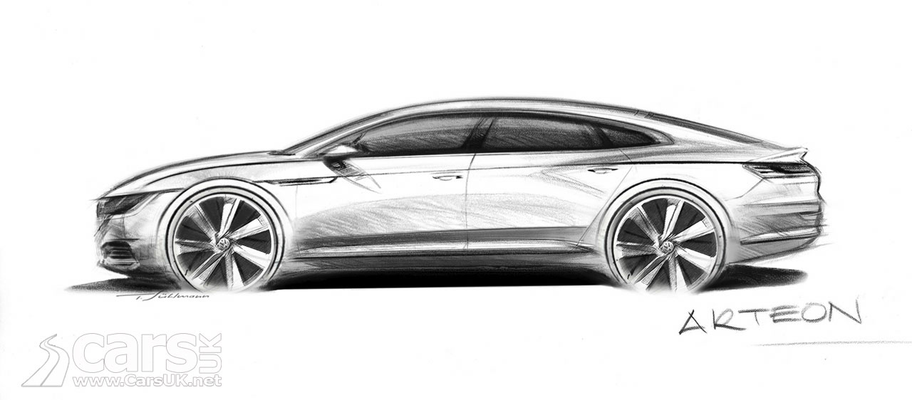 Volkswagen Arteon teased in sketch as replacement for VW