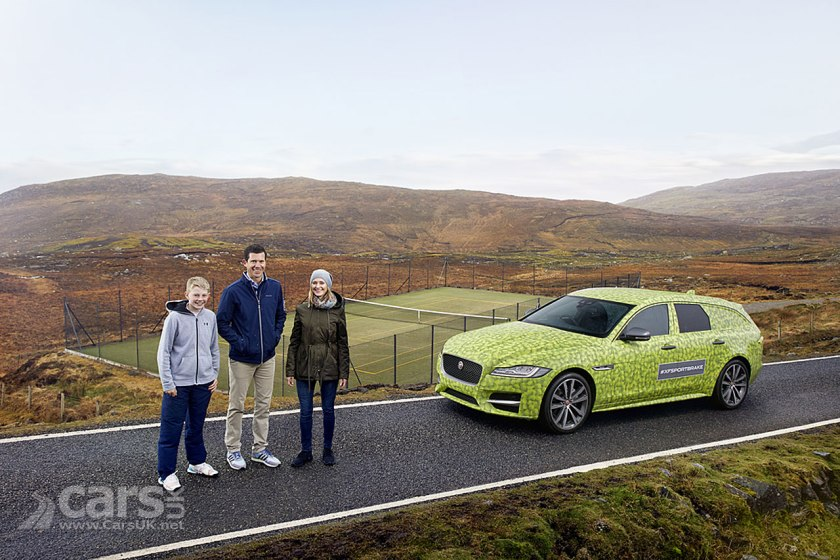 Photo Tim Henman and the new Jaguar XF Sportbrake