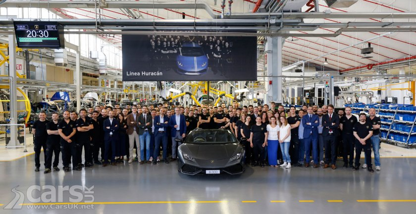 Photo Lamborghini Huracan hits 8,000