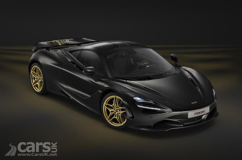 McLaren 720S Black & Gold MSO Special at Dubai Motor Show