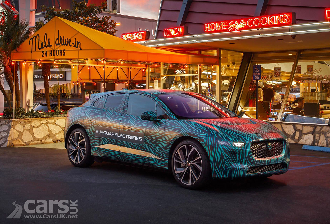 Jaguar drives an I-Pace prototype around LA