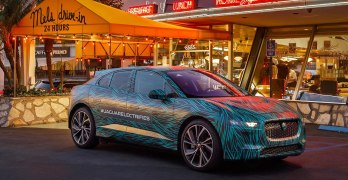 Jaguar i-PACE EV out California Schmoozing ahead of the electric SUV's debut (video)