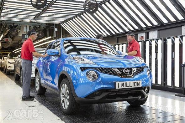 Nissan Juke production passes a million in Sunderland