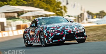 WATCH the new Toyota Supra hit the Goodwood Hillclimb