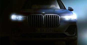 New BMW X7 shows its face ahead of a debut this month