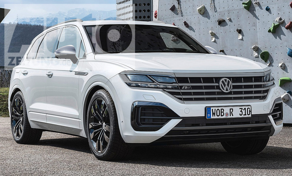 VW Touareg R Spy Shots