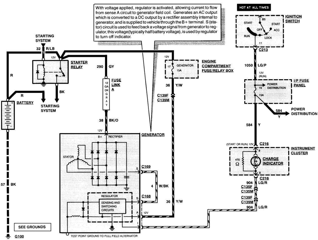 Older Alternator Wiring Diagram With Internal Regulator