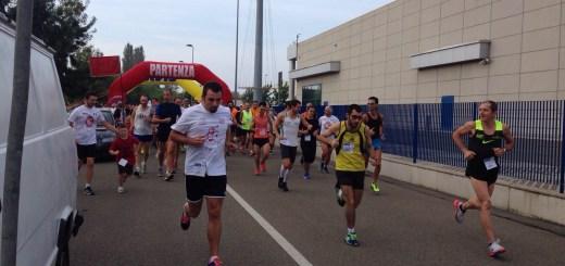 La partenza della Maratonina del Pesco