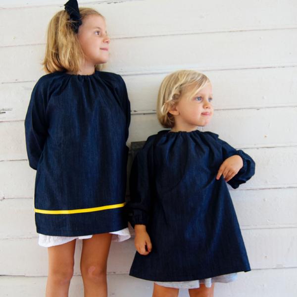 blouse d ecole maternelle au look retro