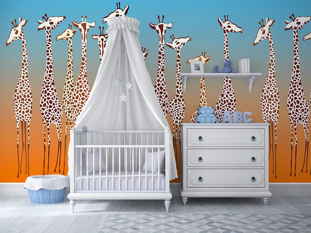 Sono stati creati per arredare le pareti delle camerette,. Giraffe Per La Camera Dei Bambini Cartadaparatipersonalizzata Com