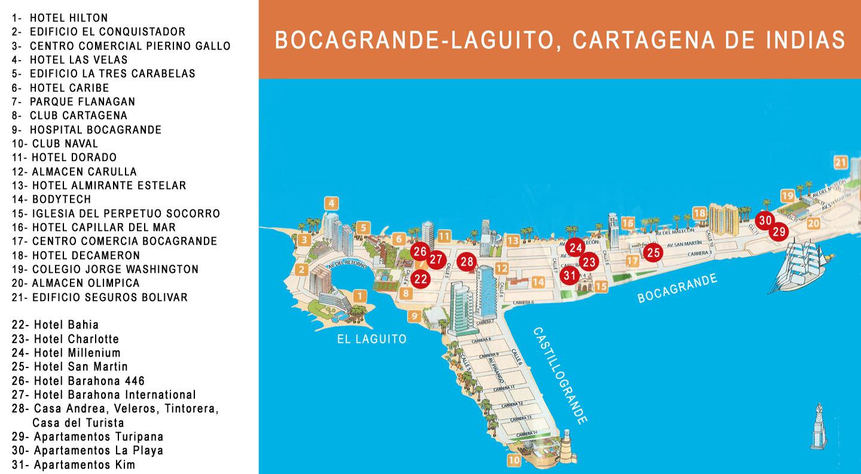 El hotel la Casa del Turista barrio de Bocagrande