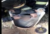 Rescate de un niño de siete años atrapado en un tubo en El Albujón