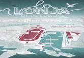 Cartel folleto de la Lonja del Pescado de Santa Lucía