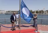 Izado bandera azul Real Club de Regatas de Cartagena