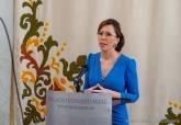 La alcaldesa, Ana Belén Castejón, durante sus declaraciones sobre expropiaciones para la llegada del AVE