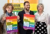 Imagen de la presentación de la campaña de Igualdad contra la LGTBI fobia