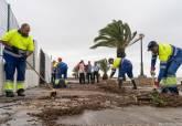 Los servicios del Ayuntamiento se afanan por devolver la normalidad tras las lluvias