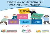 calendario actividades personas mayores primer semestre 2020