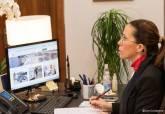 Videoconferencia de la Alcaldesa con el Presidente de la Comunidad