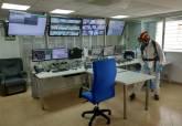 Tareas de limpieza y desinfección en las instalaciones del Parque de Seguridad