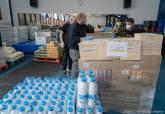 Donación de alimentos empresas Plus Lideragua y Voladuras Carthago