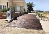 Actuaciones realizadas en los accesos a las playas de La Manga y Cabo de Palos afectadas por la DANA
