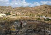 Incendio entre los montes Calvario y San Julián