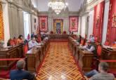 Comisión de Hacienda celebrada en el salón de plenos del Palacio Consistorial