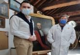 Proceso de reparación del cuadro 'Retrato del médico cartagenero Benigno Risueño de Amador'