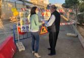 Obras de renovación de la red de abastecimiento en Alumbres