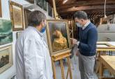 Restauración del cuadro 'Reposo' y descubrimiento de su verdadero autor, el pintor Portela