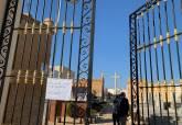 Visita de Manuel Padín a las obras del cementerio de San Ginés de la Jara
